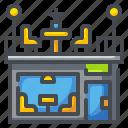bistro, building, canteen, food, restaurant, shop, store icon