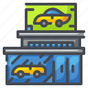 car, pickup, saloon, sell, shop, showroom, truck icon