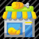 butchers, food, market, meat, pork, shop, store