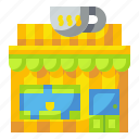 building, cafe, coffee, food, restaurant, shop, store icon