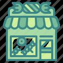 building, candy, dessert, shop, store, sugar, sweet