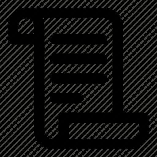 List, manuscript, paper, parchment, scroll icon - Download on Iconfinder