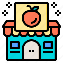 style, fruit, store, happy, group, consumer, credit icon