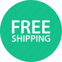 free, sale, shipping, shop, shopping icon