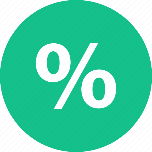 percentage, rate, sale, shop, shopping icon