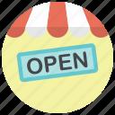 online shop, open, open shop, shop, shop open, shopping, store icon