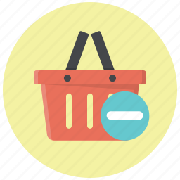 basket, cart, delete, remove, remove from basket, remove from cart, shopping basket icon