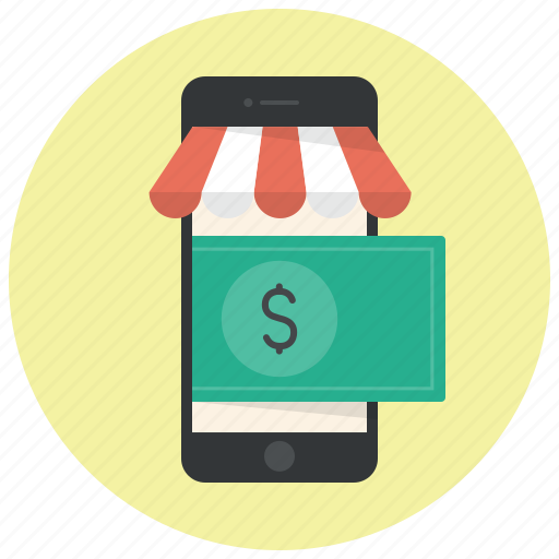 dollar, online shop, online shopping, online store, phone, shop, shopping icon