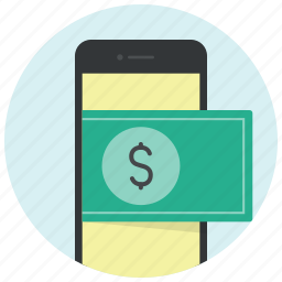 dollar, ecommerce, mobile, online shopping, payment, phone, shopping icon