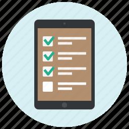app, application, checklist, ecommerce, ipad, list, shop icon