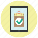 app, application, approve, buy online, ok, shop, shop app icon