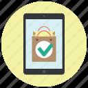 app, application, approve, buy online, ok, shop, shop app icon