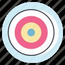 achieve, aim, bulls eye, career, dart board, goal, target icon