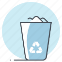 garbage, job, paper, recycle, recycle bin, trash, waste icon
