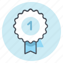 award, badge, best, department, one, rank, rating icon