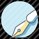 bureau, business, job, pen, signature, work, write icon