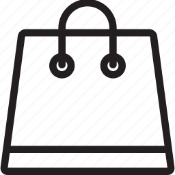 bag, basket, buy, cart, ecommerce, line, mall, market, pocket, shop, shopping icon