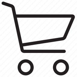 bag, basket, buy, cart, checkout, commerce, e-commerce, ecommerce, line, purchase, shop, shopping, webshop icon
