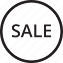 ecommerce, line, sale, shop icon