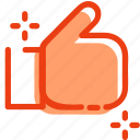 bookmark, favorite, favourite, like, rating, recommended, thumb icon