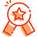 badge, bookmark, favorite, like, medal, rating, star icon