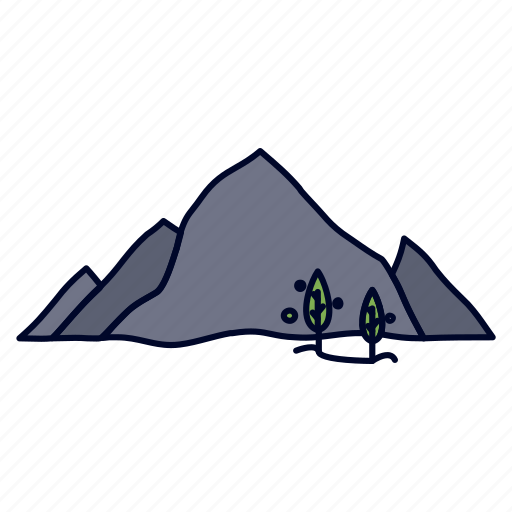 Hill, landscape, mountain, nature, tree icon - Download on Iconfinder