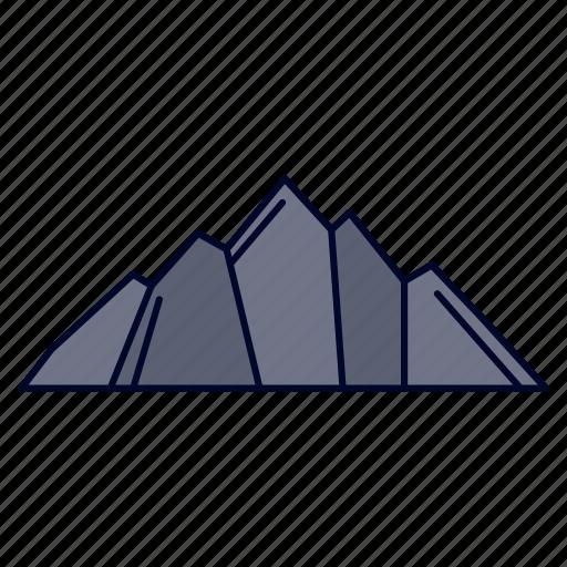 hill, landscape, mountain, nature, scene icon