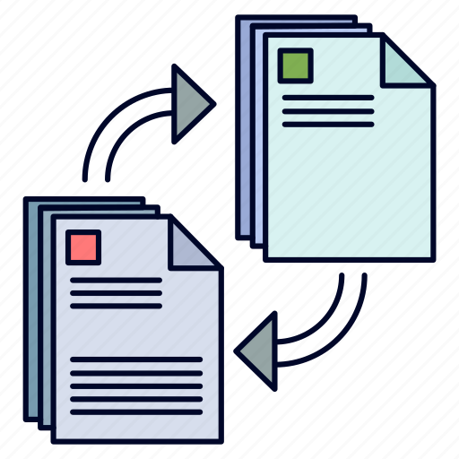 copying, document, file, share, sharing icon