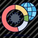 analysis, big, data, globe, services icon