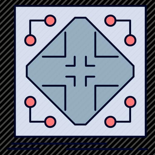 data, grid, infrastructure, matrix, network icon