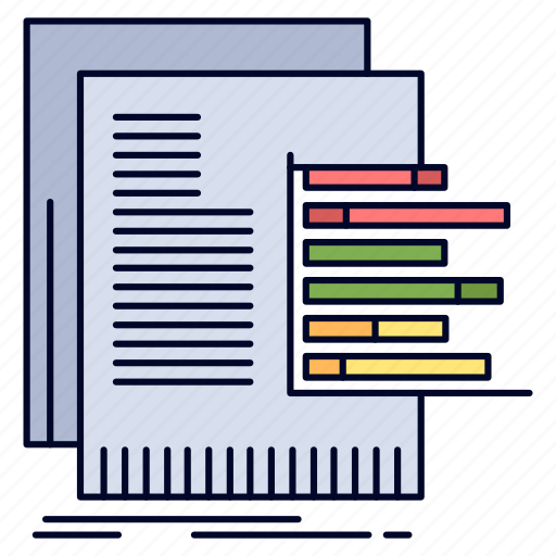 chart, data, graph, reports, valuation icon