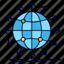 arrow, globe, network, news, worldwide icon