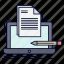 coder, coding, computer, list, paper icon