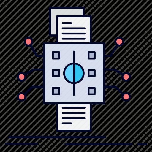 analysis, data, datum, processing, reporting icon