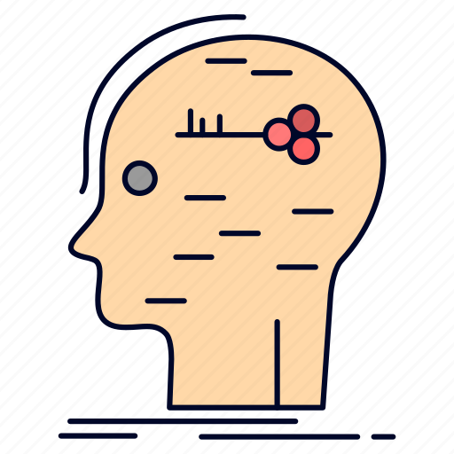 brain, hack, hacking, key, mind icon