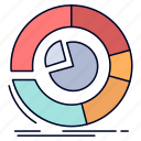analysis, analytics, business, chart, diagram, pie icon