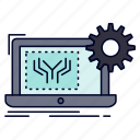 blueprint, circuit, electronics, engineering, hardware icon