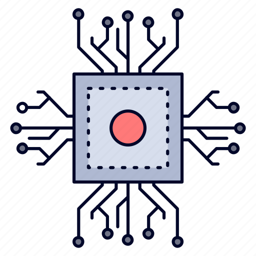 chip, cpu, microchip, processor, technology icon