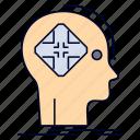 advanced, cyber, future, human, mind icon
