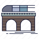 metro, railroad, railway, train, transport icon