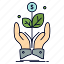 business, company, growth, plant, rise icon