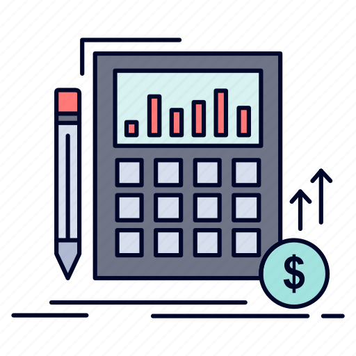 calculation, data, financial, investment, market icon
