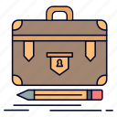 briefcase, business, financial, management, portfolio