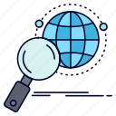 global, globe, magnifier, research, world