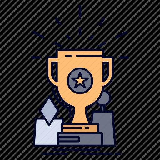 achievement, award, cup, prize, trophy icon