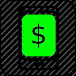 ecommerce, handphone, hp, online, shopping icon