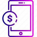 account, bank, dollar, financial, mobile, money, payment icon