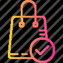bag, basket, buy, cart, ecommerce, ok, shopping icon