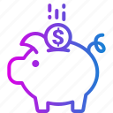 bank, budget, piggy, savings, shopping icon