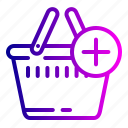 add, bag, cart, complete, ecommerce, shopping icon
